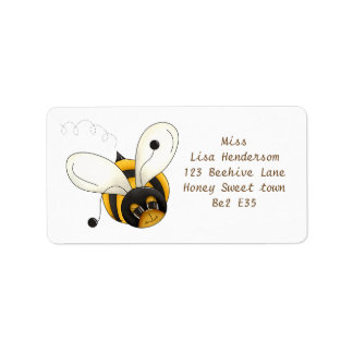 Süße kleine Biene Adressaufkleber