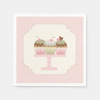 Süße kleine Kuchen Serviette
