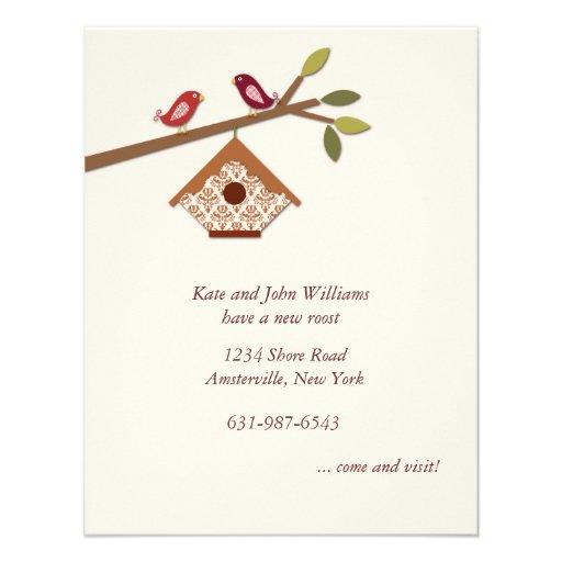 Süße kleine Vogel-neue Adressen-Mitteilung Personalisierte Ankündigungskarte