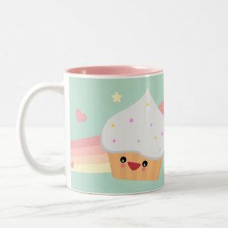 Süsse-kleiner Kuchen Zweifarbige Tasse