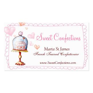 Süße Konfektionsartikel-Visitenkarten