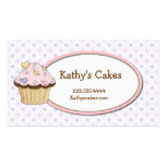 Süße Kuchen-Bäckerei-Visitenkarten