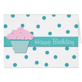 Süße Kuchen-Geburtstags-Gruß-Karte Karte