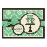 Süße Kuchen-Geschäfts-Karte aquamarin Visitenkarten