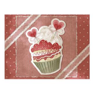 Süße Kuchen-Postkarte