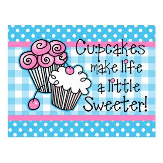 Süße Kuchen-Rezept-Karte Postkarten