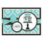 Süße Kuchen-Visitenkarte Turq