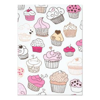 Süße Kuchenmustereinladung (blanco nach innen) 12,7 X 17,8 Cm Einladungskarte