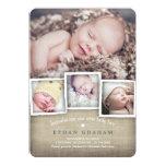 Süße Land-Leinwand-Baby-Geburts-Mitteilung Individuelle Ankündigskarten
