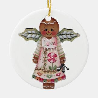 Süße Lebkuchen-Liebe-Engels-Verzierung Keramik Ornament