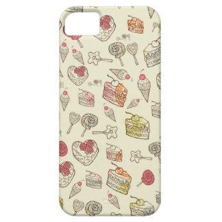Süße Leckerei-Retro Muster iPhone 5 Etuis