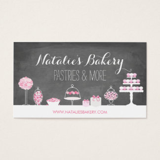 Süße Leckerei-Tafel-Bäckerei Visitenkarten