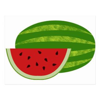 Süße Leckerei-Wassermelonen Postkarte