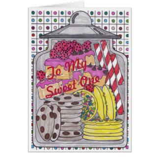 Süße Leckereien 1 Geburtstags-Karte für Bonbon Karte