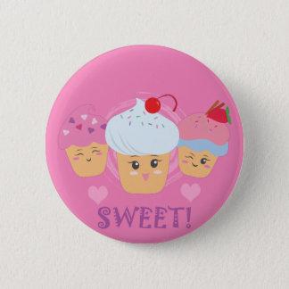 Süße Leckereien - kleine Kuchen! Runder Button 5,1 Cm