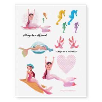 Süße Meerjungfrautätowierung
