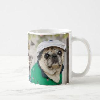 Süße Mops-Golf-Tasse Kaffeetasse