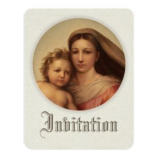 Süße Mutter und Baby CC0980 Taufe-Einladung Karte