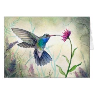 Süße Nektar-Kolibri-Aquarell-Malerei Karte