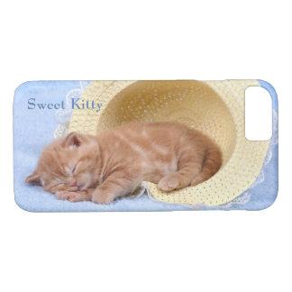 Süße Nickerchen machende Kitty-perfekte friedliche iPhone 8/7 Hülle