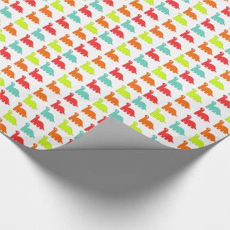 Süße niedliche rote, orange, grüne, aquamarine geschenkpapier
