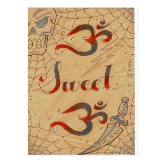 Süße OM Produkte OM durch Dana Tyrrell Postkarte