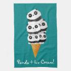 Süße Panda-Bärn-Eistüte Handtuch