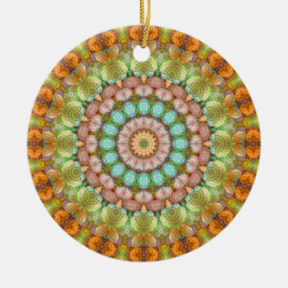 Süße Pastellgeleebonbon-Mandala Keramik Ornament