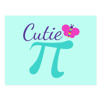Süsse-PU-Symbol-Mathe-Wortspiel Postkarte