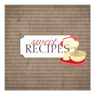 Süße Rezept-Trading Card-Sammlung Quadratische 13,3 Cm Einladungskarte