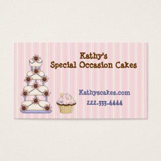 Süße rosa gestreifte Bäckerei-Visitenkarten Visitenkarte