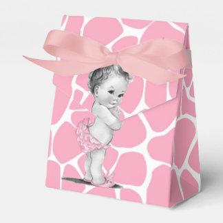 Süße rosa Giraffen-Babyparty-Bevorzugungs-Kästen Geschenkschachteln