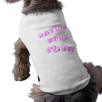 Süsse-Rosa-Haustier-Shirt-Schablone von Geburt T-Shirt