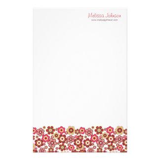 Süße rosa Süßigkeits-Gänseblümchen-Blumen-Girly Briefpapier