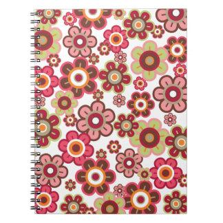 Süße rosa Süßigkeits-Gänseblümchen-Blumen-Girly Spiral Notizblock