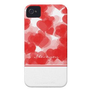 süße rote Herzen mit Erklärung der Liebe iPhone 4 Hülle