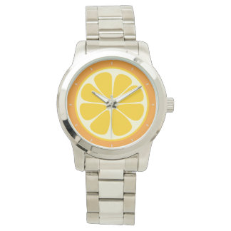 Süße saftige orange tropische Zitrusfrucht-Scheibe Armbanduhr
