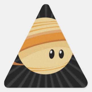 Süsse Saturn Dreieckiger Aufkleber