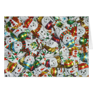 Süße Schneemanngrußkarte horizontal Karte