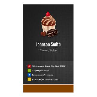 Süße Schokoladen-Kuchen-Gebäck-Bäckerei Visitenkarten