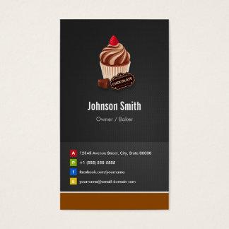 Süße Schokoladen-Kuchen-Gebäck-Bäckerei Visitenkarte