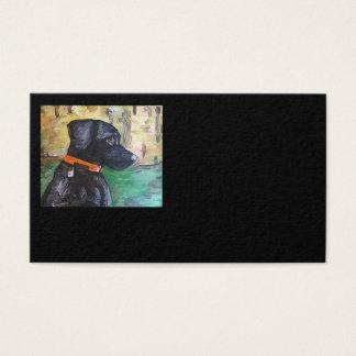 Süße schwarze Labrador-Geschäfts-Karten Visitenkarte