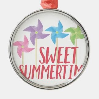 Süße Sommerzeit Silbernes Ornament