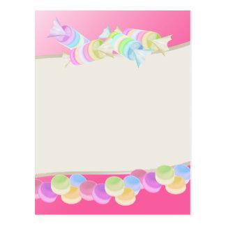 Süße Süßigkeit Rolls Postkarten