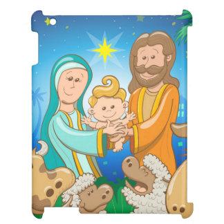 Süße Szene der Geburt Christi des Babys Jesus iPad Hülle
