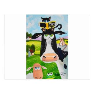 Süße Tiere, die Kuhkatzen-Schaffrosch malen Postkarten