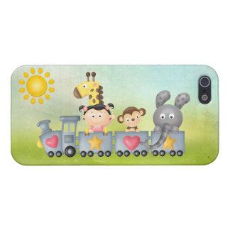 Süße Tiere u. Mädchen auf Zug iPhone 5 Cover