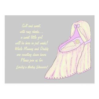 Süße Traum-Baby-Babyparty-Einladungen Postkarte