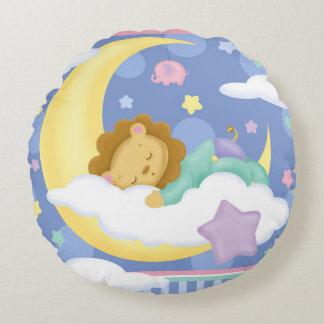 Süße Traum-Baby-rundes Kissen
