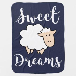 Süße Traum-Cartoon-Schafe Kinderwagendecke